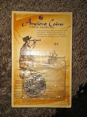 """Ancient Coins 1715 PIRATE PIECE OF EIGHT """"Authentic Reproduction"""" fantasy coin"""