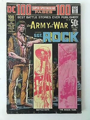 Our Army At War Featuring Sgt. ROCK No. 242 Feb 1972 DC Super Spectacular