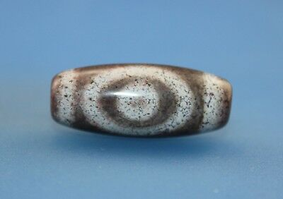 30*12mm Antique Dzi Agate old 2 eyes Bead from Tibet **Free shipping**