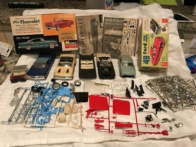 Vintage Promo's + AMt Model Car Built Up Junkyard Lot AMT Monogram