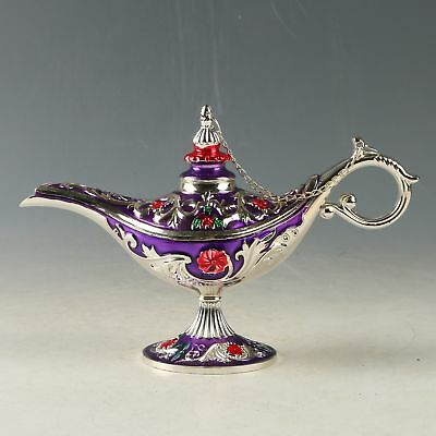 Chinese Exquisite Cloisonne Handwork Carved Flower Teapot  CC1196