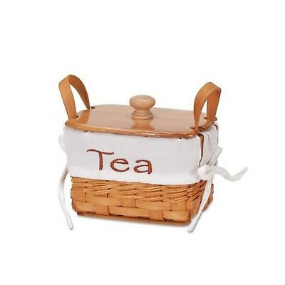 Darice 2860-10 Basket Chipwood Tea with Liner, 6""