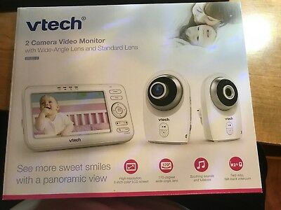 Vtech 2 Camera Video Monitor with Wide Angle Lens And Standard VM351-2