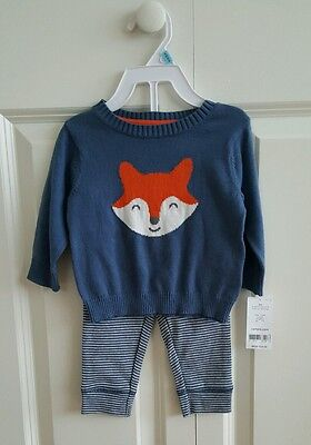NWT Carter's Baby Boys' 2-Piece Little Sweater Set  MSRP$34.00  6M %100 Cotton