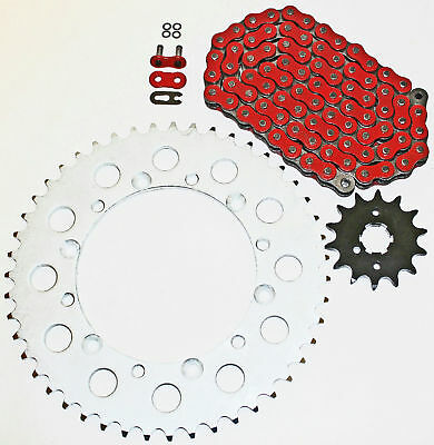 2003-2007 Kawasaki KLX300R 300 R Red O Ring Chain And Sprocket 14/51 112L