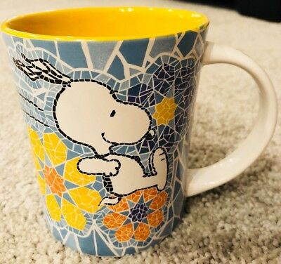 Gibson Peanuts Snoopy Running in Flowers Coffee Mug Cup