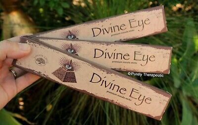 DIVINE EYE MASALA INCENSE STICKS~Green Tree 15gms x3 Wicca Egyptian Pagan Ritual
