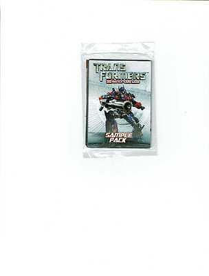 2007 Wizards of the Coast WotC Transformers 3D Battle Card Game Sample Pack SEAL
