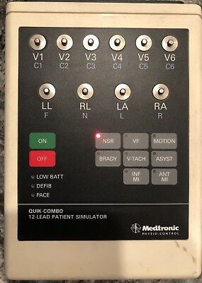 Medtronic Physio Control 806395-01 Quick Combo 12 Lead Patient Simulator