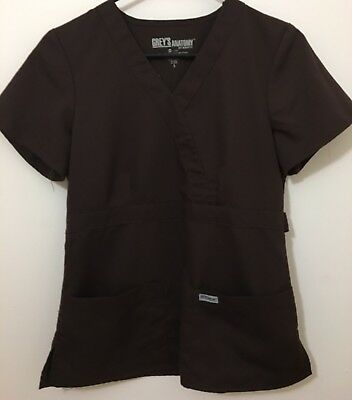 Grey's Anatomy Brown Scrub Top - Women's Size Small