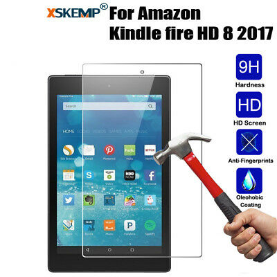 NEW Genuine Tempered Glass Screen Protector For Amazon Kindle fire 7/HD 10/ HD 8