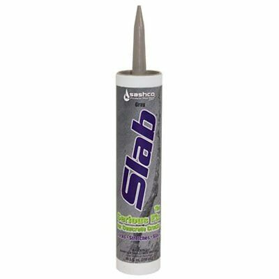 Sashco 16210 Slab Concrete Crack Repair Sealant, 10.5 oz Cartridge, Gray Pack of