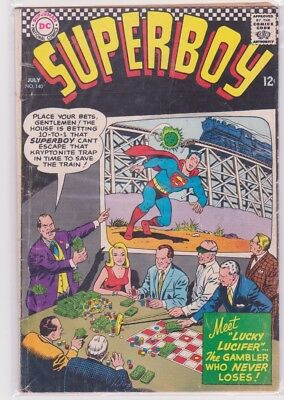 Superboy 140 VG- July 1967 against the syndicate! No-profit combined shipping