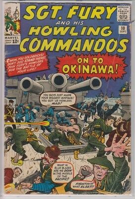 Sgt. Fury and His Howling Commandos 10 G/VG September 1964 Marvel silver age!