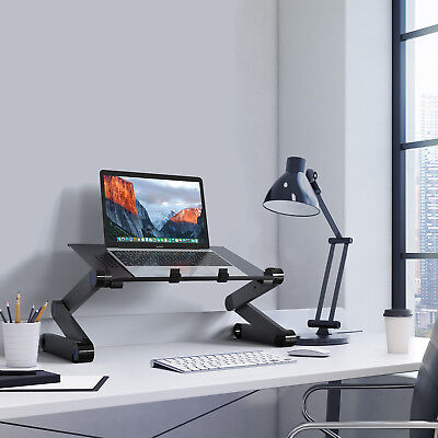 Functional Laptop Stand Aluminum Computer Notebook Table Riser with 2 Edge Mount
