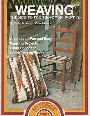 Weaving The How To For Those Who Want To Vintage Pattern Book Chair Pillow Lamps