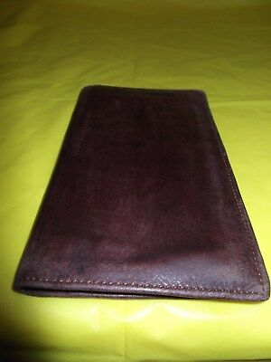 Dopp Brown  Satin Cowhide Leather Check Book  Credit Card Holder