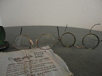 Vintage Willson+Bausch & Lomb Ful Vue 23 Safety Glasses with Metal Case & Cloth