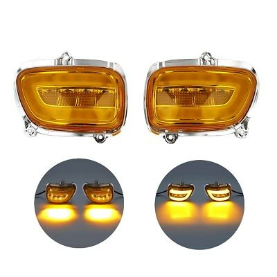 12V Front LED Turn Signals For Honda Goldwing GL1800 01-17 02 F6B 13-17 16 15 14