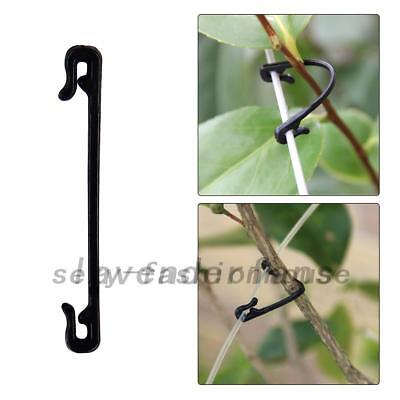 200Pcs Adjustable Plastic Garden Plant Vegetable Cable Clip Ties Supporter