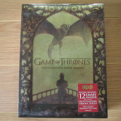 GAME OF THRONES: The Complete Fifth Season, Season 5 (DVD, 2016, 5-Disc Set) NEW