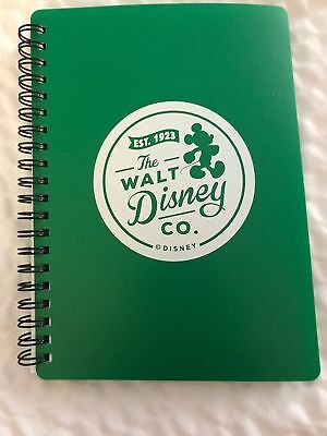 Walt Disney Company Green Spiral Notebook with zippered pouch