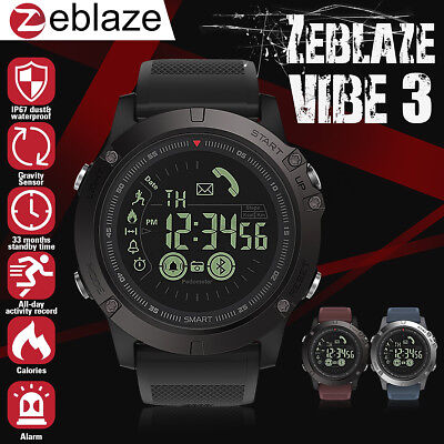 Zeblaze VIBE 3 Smart Watch Bluetooth Waterproof Camera Sport For Iphone Android
