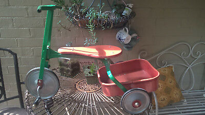 vintage  children's tricycle cyclops with tray ideal movie prop