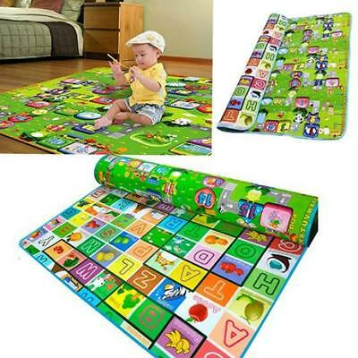New 2 Side Baby Kids Grawling Picnic Carpet Educational Play Game Soft Foam Mat