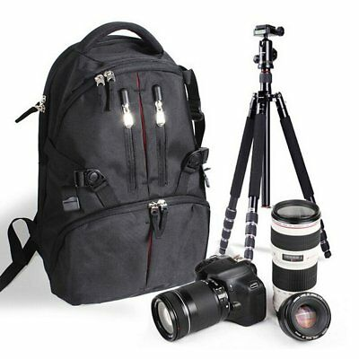 Waterproof Shockproof Digital SLR DSLR Camera Bag Soft Padded Backpack AZ