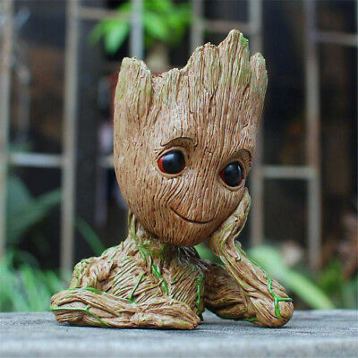 "5.5"" Guardians of The Galaxy Baby Groot Figure Flowerpot Style Pen Pot Toy Gifts"