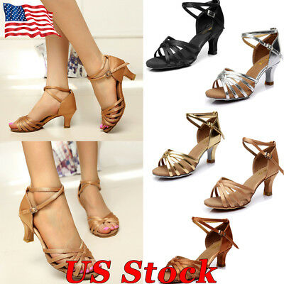 Women's Brand New Latin Tango Ballroom Dance Shoes Salsa Colors  5cm Heeled Size