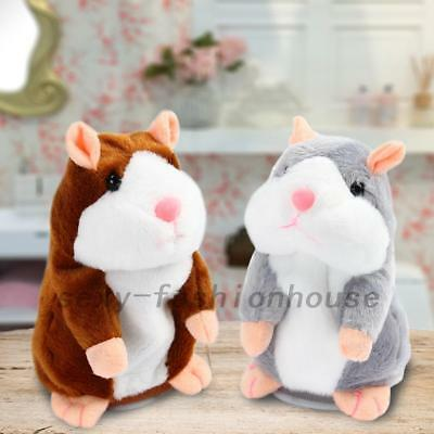 Talking Hamster Repeats What You Say Electronic Pet Talking Plush Toy Buddy AU