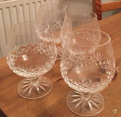 Galway  Crystal Brandy glasses x 4