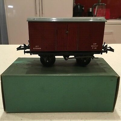 HORNBY O GAUGE No 5o Goods Van Boxed Excellent Condition.