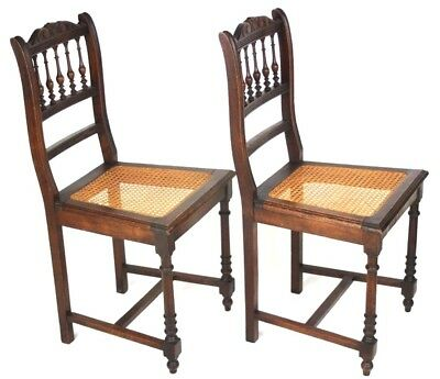 A pair of Victorian Carved Mahogany Dining Chairs - FREE Shipping  [PL4492A]