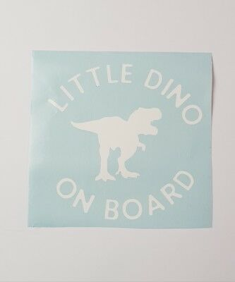Baby on board car decal, little dino on board, vinyl decal, window decal