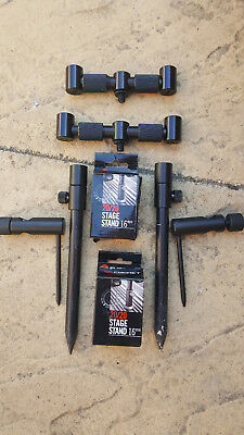 fox black label 2 rod and cygent 20/20 stands and sticks avid buzz bar bag