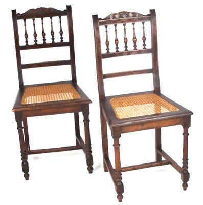 A pair of Victorian Carved Mahogany Dining Chairs - FREE Shipping  [ PL-4492 B ]