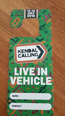 Kendal Calling 2018 live in vehicle ticket