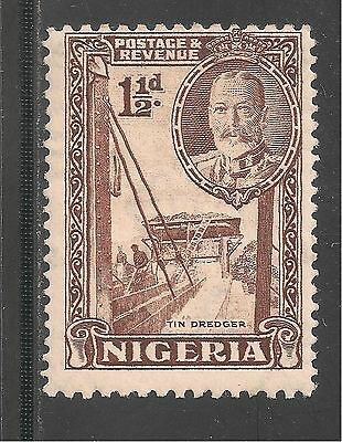 Nigeria #40 (A4) FVF MINT OG  - 1936 1 1/2p Dredging For Tin - King George V