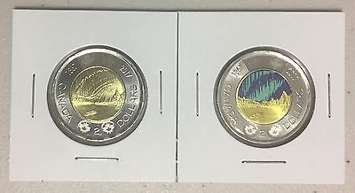 CANADA 2017 New 2 x Toonie KIT 150th of Canada one with COLOR GID (BU From roll)