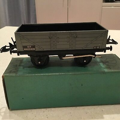 HORNBY O GAUGE No 5o Wagon Boxed Excellent Condition.