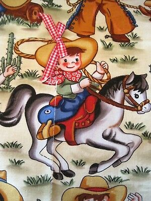 Made In USA Retro Western Rodeo Cowboy Baby Blanket Blankie Silky Lovey NEW
