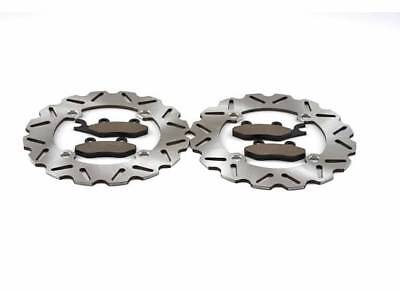 2011-2017 Can-Am Commander 1000 4x4 XT Front Sport Brake Rotors and Brake Pads