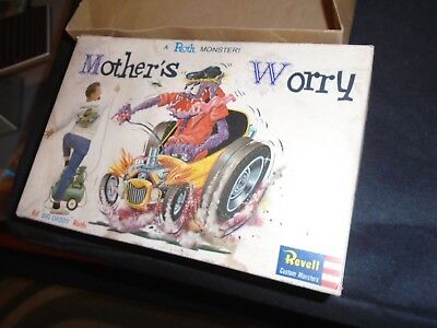 1964 Revell BOX  Rat Fink RATFINK Mothers Worry ED ROTH WEIRD-OHS NUTTY MADS