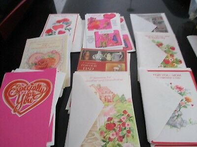 VINTAGE VALENTINE LOT of 54~VARIOUS STYLES w/ ENVELOPES #6