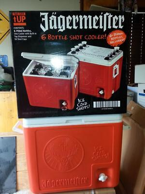 Jagermeister Cooler With Outside Tap Holds 6 Bottles Excellent