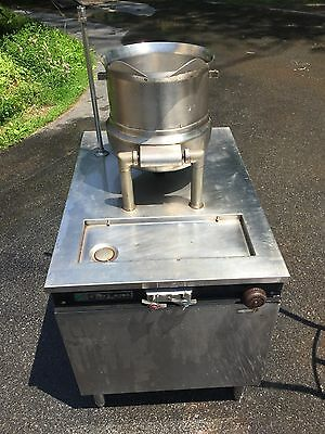 Garland Stainless Steel Tilting Kettle On Stand Direct Steam