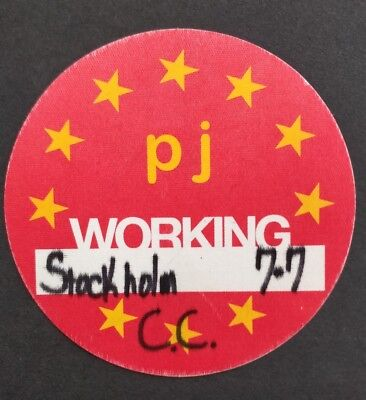 Pearl Jam Backstage Working Pass Stockholm 2012